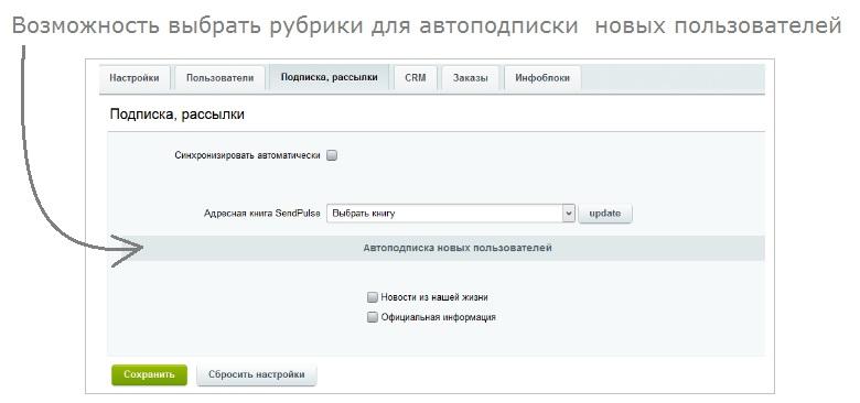 Подтверждение подписки битрикс crm системы для продажи услуг
