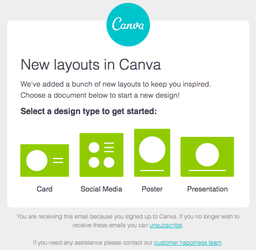 Bulk email from Canva