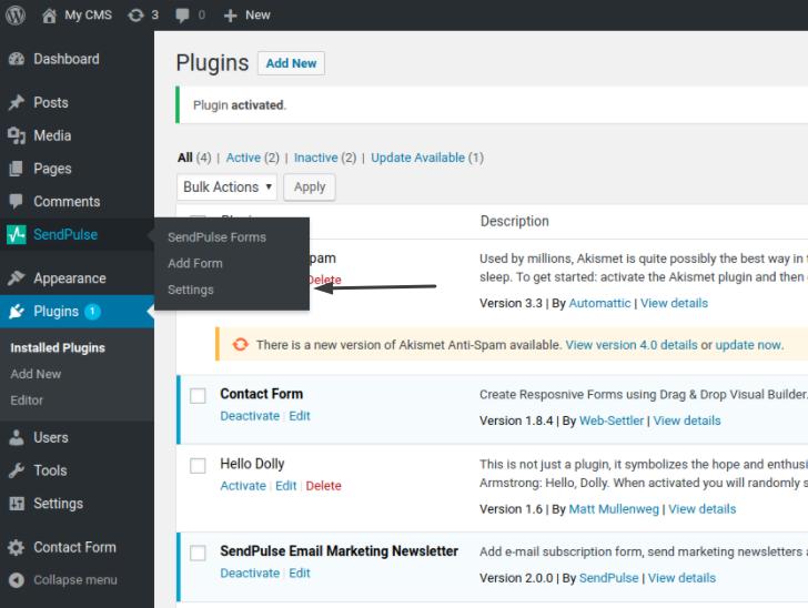 API kimliğini ve Gizli Anahtarı kopyalayın ve WordPress'e gidin