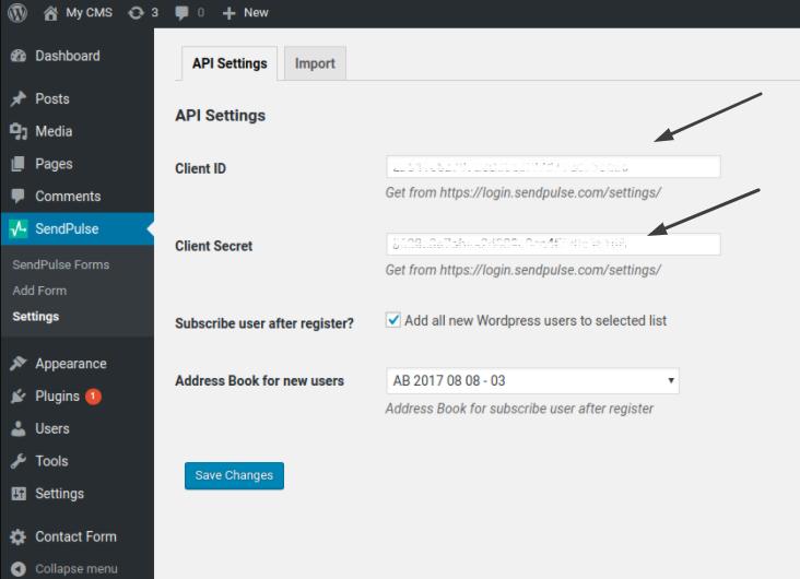 API Kimliğini ve Gizli Anahtarı yapıştırın