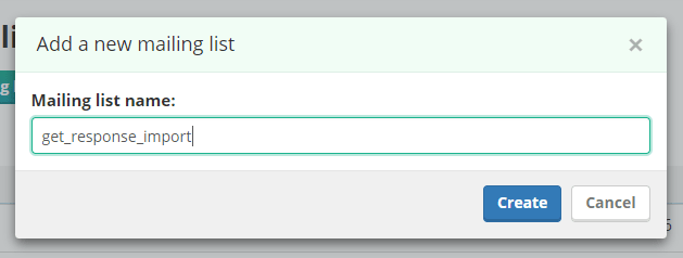 create a mailing list