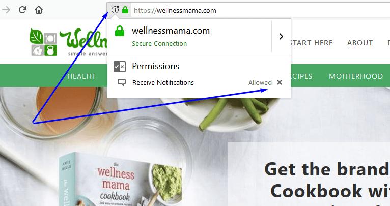 Disable web push notifications