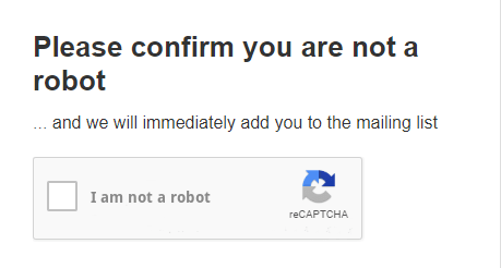 Validate subscribers using reCAPTCHA