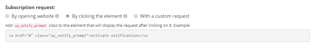код для елемента сайта