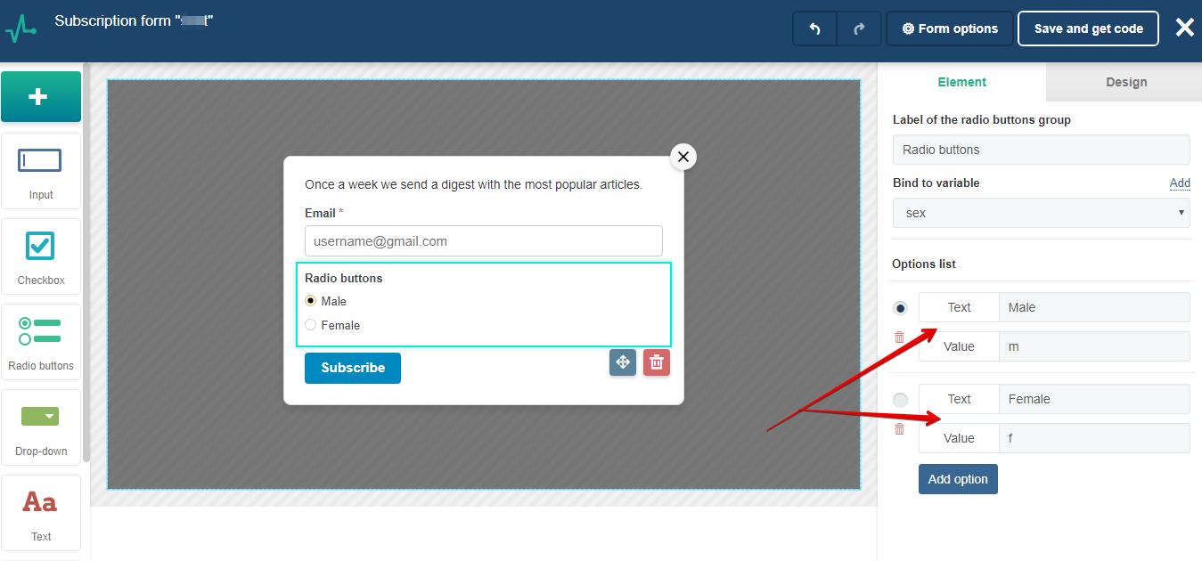 Checkbox input style