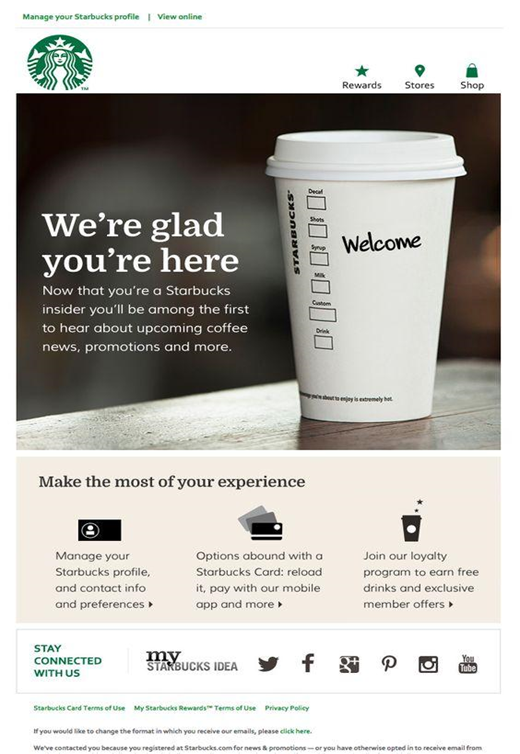 Bulk email blast from Starbucks
