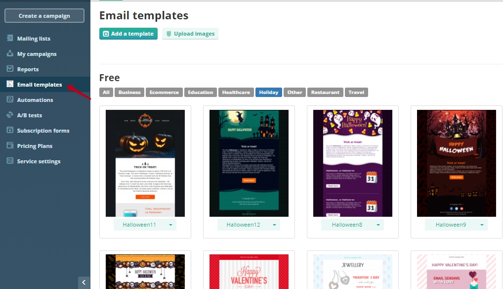 Ready-made email templates