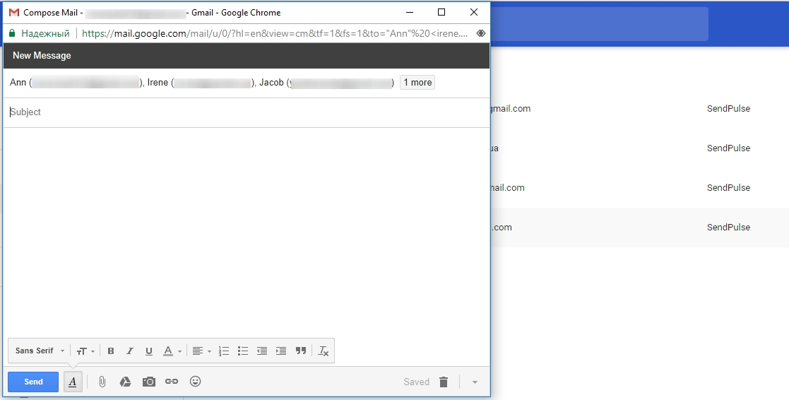 Send an email campaign in Gmail