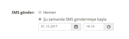 panel send sms